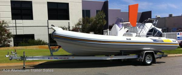 Aluminium Boat Trailer to Suit Inflatable Rib