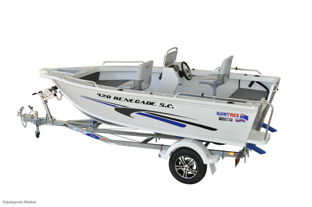 New Quintrex Renegade 420 440 460 490 Amp 520 Trailer Boats