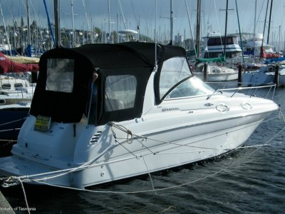 Sea Ray 275 Sundancer. Full Camper And Storm Covers