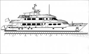 DRAWING PACKAGE - Classic Dutch Design 40 Metre Motoryacht