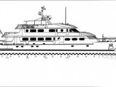 New Drawing Package - Classic Dutch Design 40 Metre Motoryacht