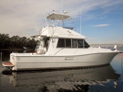 Steber 36 Flybridge Twin 260hp Volvos, Electronic Controls.