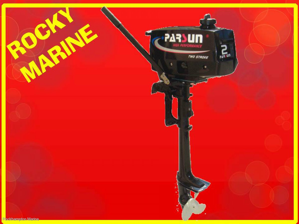 BRAND NEW PARSUN 2HP, TWO STROKE, SHORT SHAFT OUTBOARD!!!
