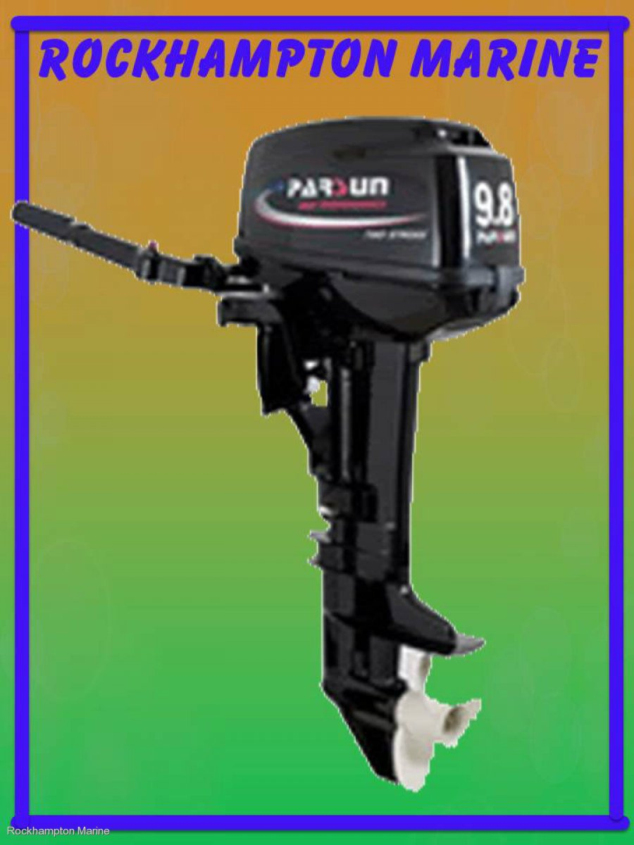 BRAND NEW PARSUN 9.8HP TWO STROKE, SHORT SHAFT OUTBOARD!!!!
