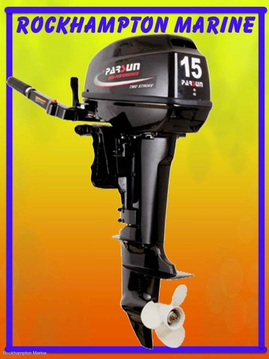 BRAND NEW PARSUN 15HP TWO STROKE, LONG SHAFT OUTBOARD!!!