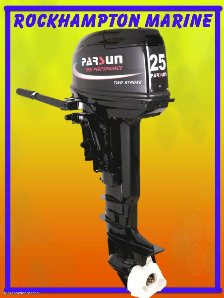 BRAND NEW PARSUN 25HP TWO STROKE, SHORT SHAFT OUTBOARD!!!