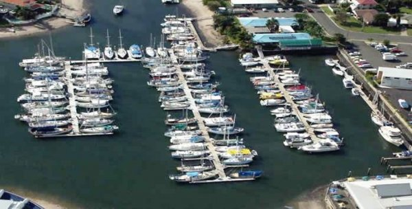 12m berth J5 at Kawana Waters Marina with prime access