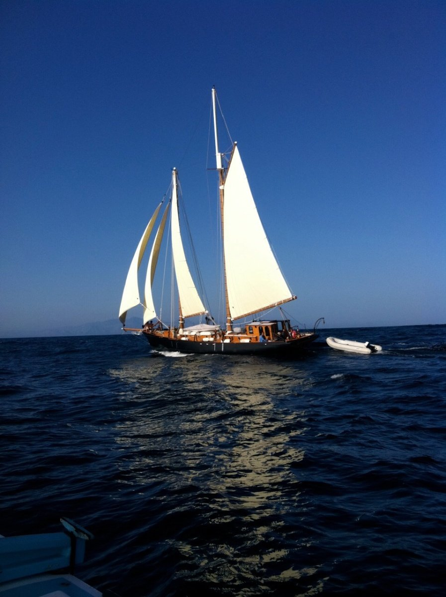 Traditional America Cupper design 66ft Gaff Schooner