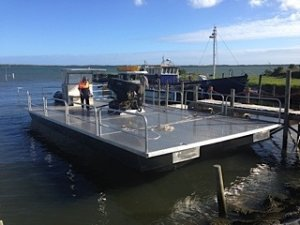 ALLOY CATAMARAN BARGE 12M X 6M