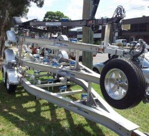 Aluminium boat trailer 6.2m tandem axle