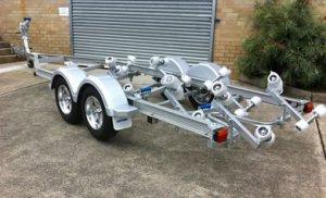 Aluminium boat trailer 5.7m tandem axle