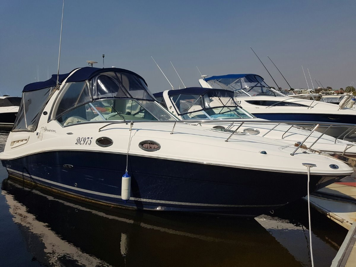 Sea Ray 275 Sundancer Sports Cruiser. Includes Pen @ Pier 21 - Fremantle