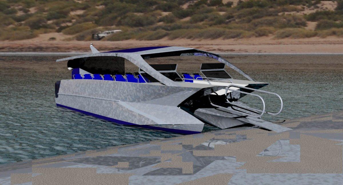 10.6m Beach Landing Passenger Catamaran
