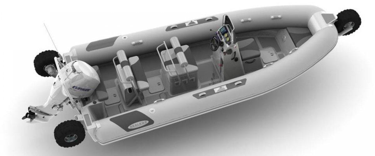 Sealegs Amphibious 7.1 AWD Rigid inflatable