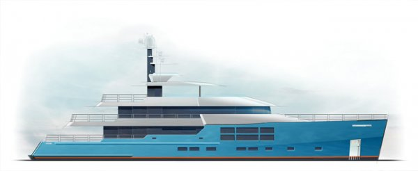 Expedition style 45m superyacht