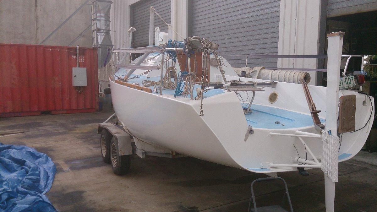 Poschelt 7m Cold moulded JOG boat.