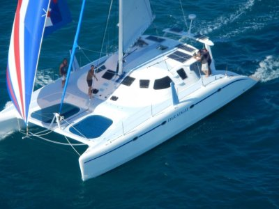 Schionning 1530 Wilderness Daggerboard Performance Catamaran:Under full sail