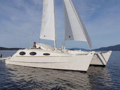 "Simpson Woodwind 9.1m catamaran ""Aramoana"""