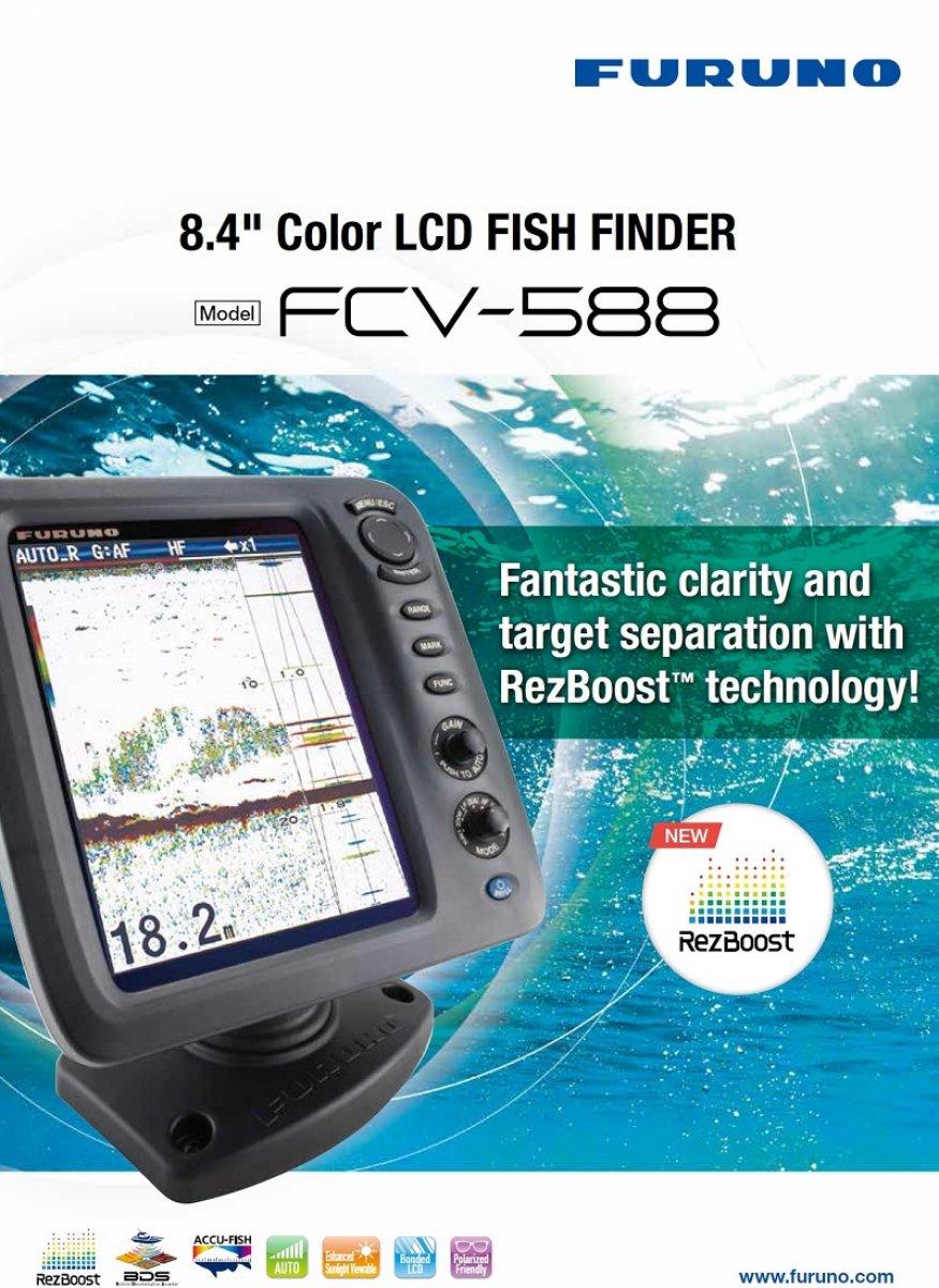 "Furuno FCV-588 8.4"" Sounder/Fishfinder with RezBoost - Head Only"