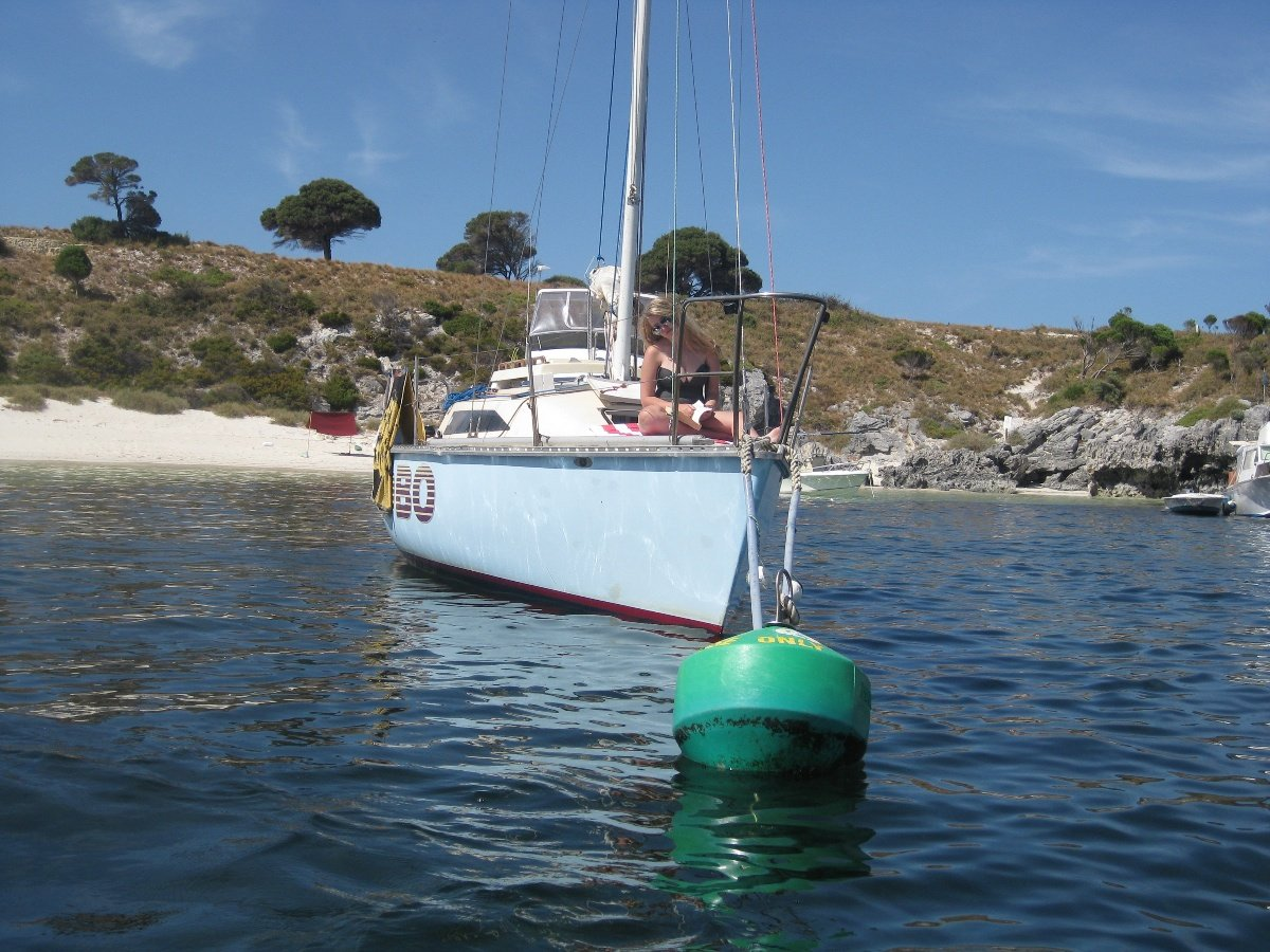 Swarbrick S80 yacht:On Mooring at Rotto
