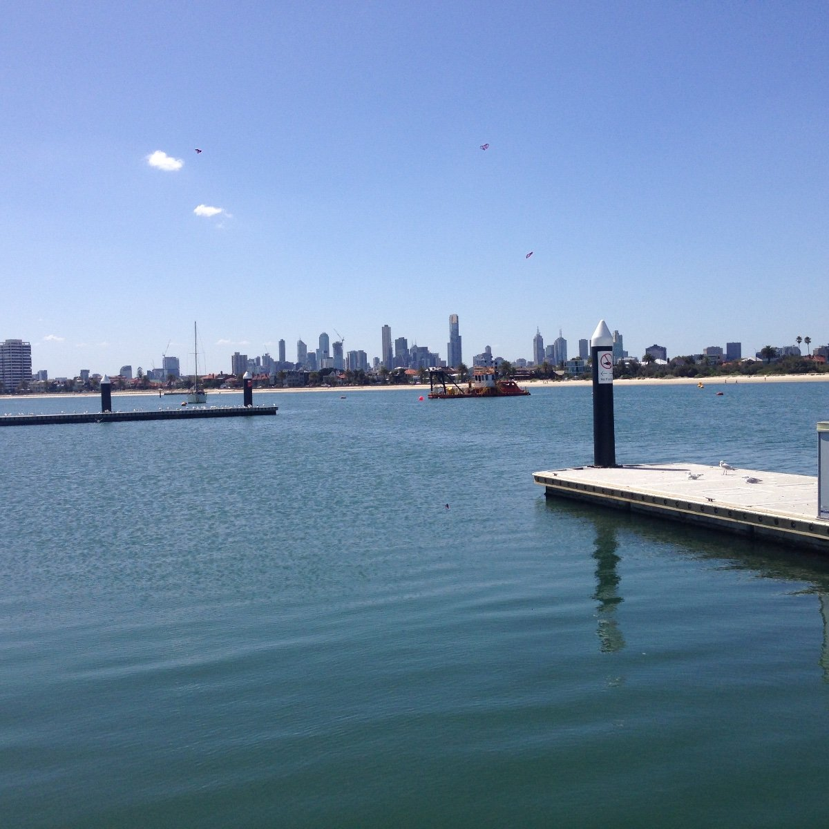 St Kilda Berth for sale with great city views easy access for large yacht:ST KILDA MARINA CITY VIEW