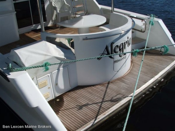 Custom Flybridge Cruiser Charter BUSINESS