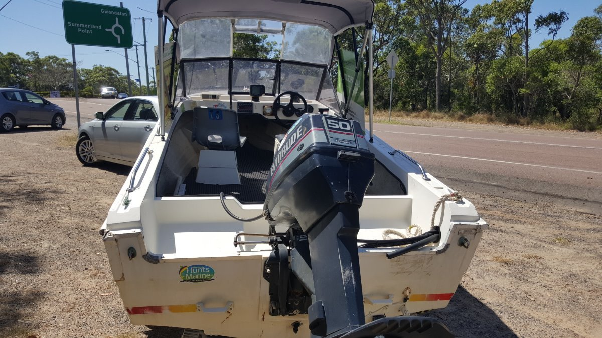 Stejcraft Stejcraft runabout with 50hp Evinrude and trailer