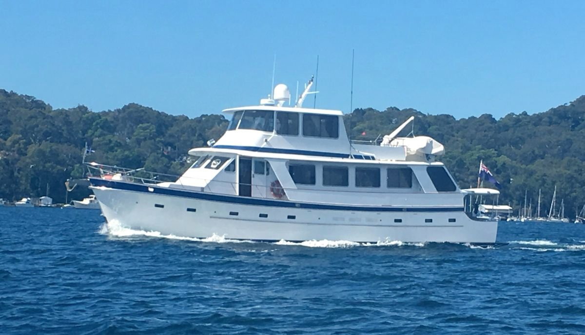 Cheoy Lee Seamaster 18m LRMY Was in survey QLD 2B (12 passengers and 2 crew)