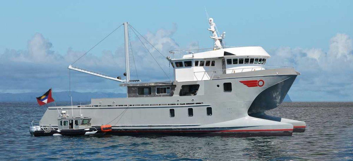 Long-range Wave-piercing Expedition Catamaran