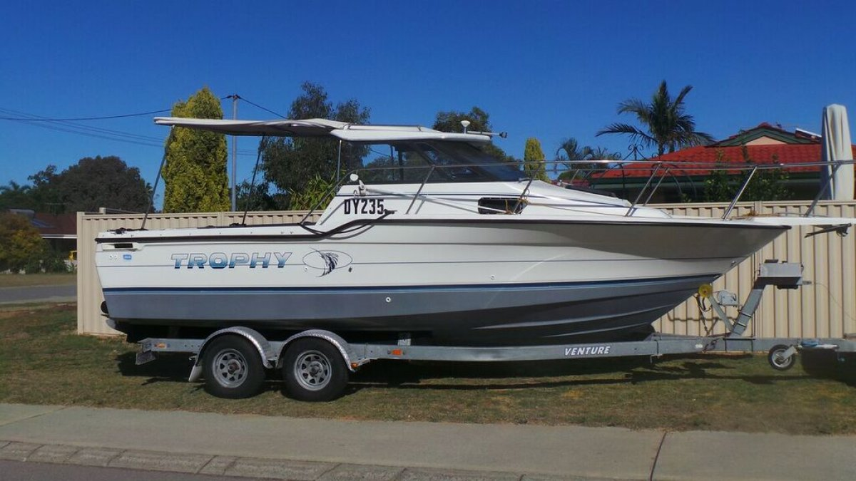 Trophy Bayliner Very good condition & stable:Hard top half cabin