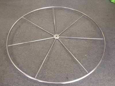 "Edson 60"" Stainless Steel Destroyer Wheel - $1,500 US Value- Click for more info..."