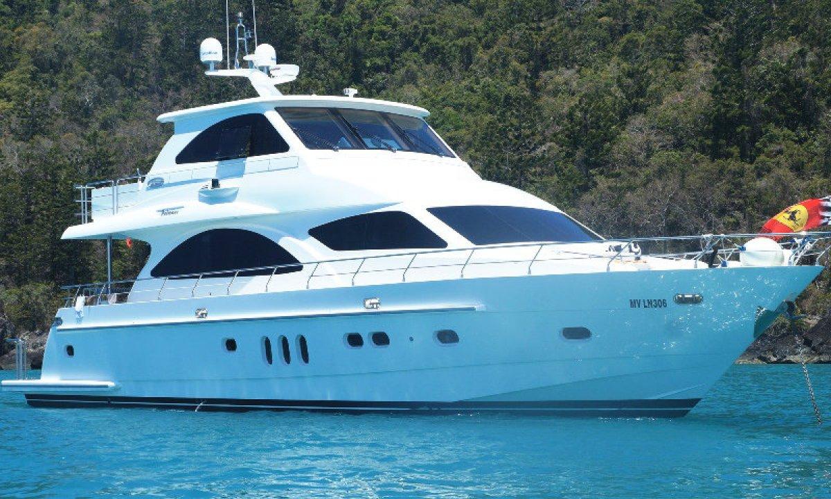 New Ocean Yachts 78 enclosed flybridge motor yacht