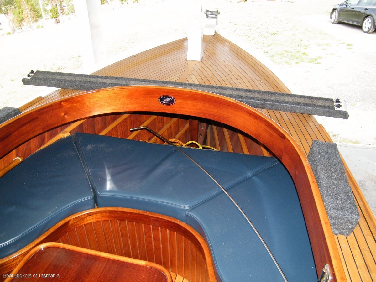 Custom timber launch with inboard diesel