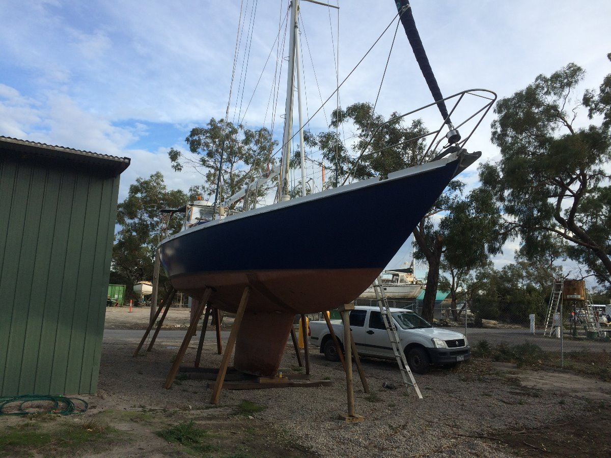 Ganley Tara (S130 hull design with Tara layout):Layed up for winter