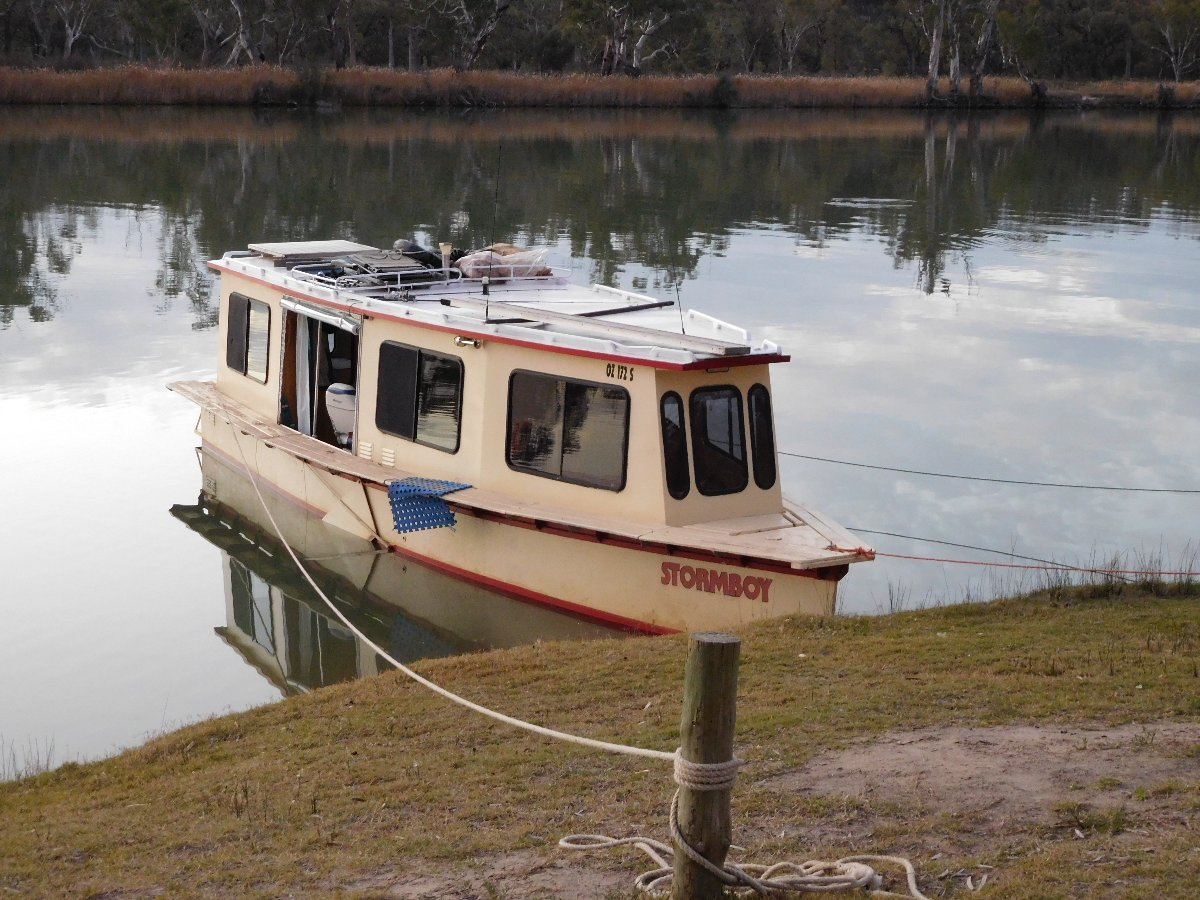Widened Tenessee River Cruiser:can be moored nose in, or side on.