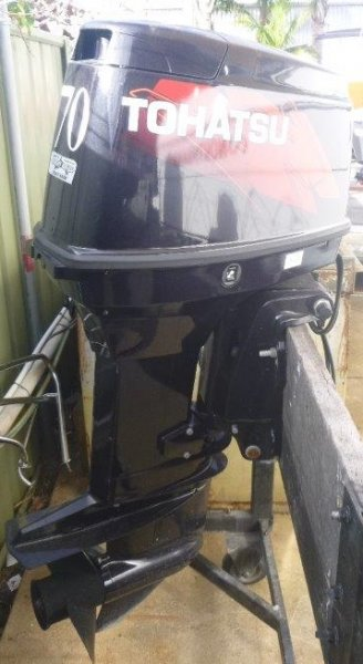 PRE OWNED 70HP TOHATSUOUTBOARD
