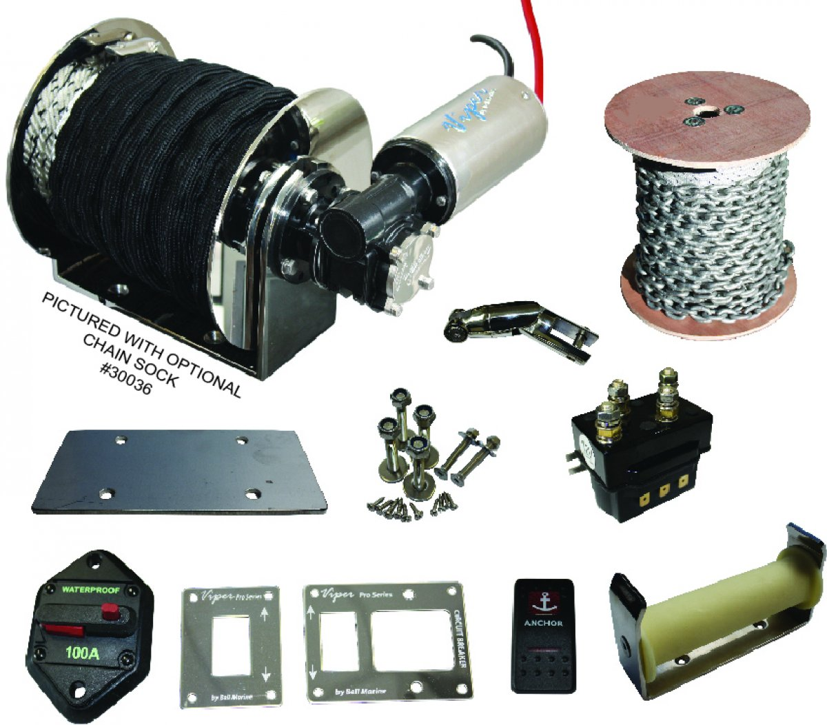 "ANCHOR WINCHES AND ACCESSORIES 5 YEAR ""YOU BREAK IT, WE REPLACE IT WARRANTY"":Viper Pro Series Micro $1450"