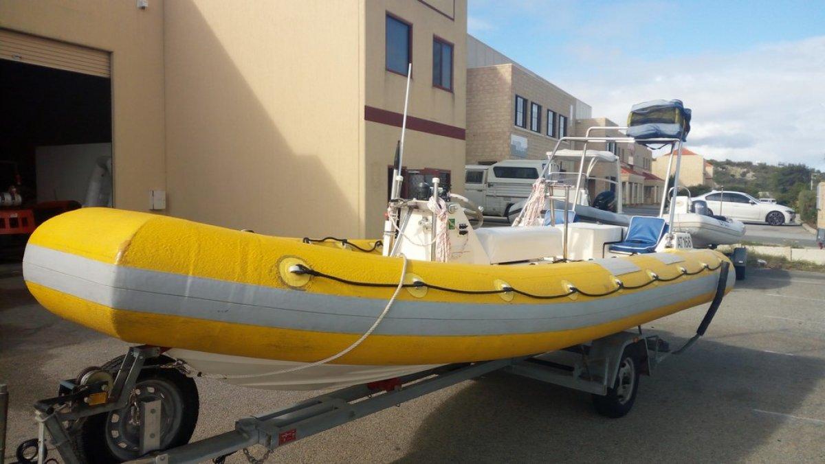 5.8m Jet RIB with Kevlar / Foam tubes.