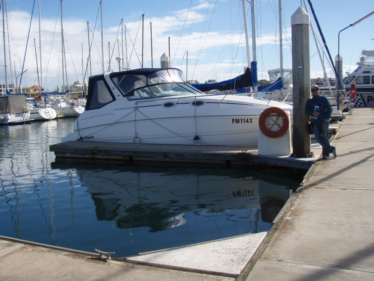 9.6m North Haven (Adelaide) berth for rent:actual view of the marina berth for rent