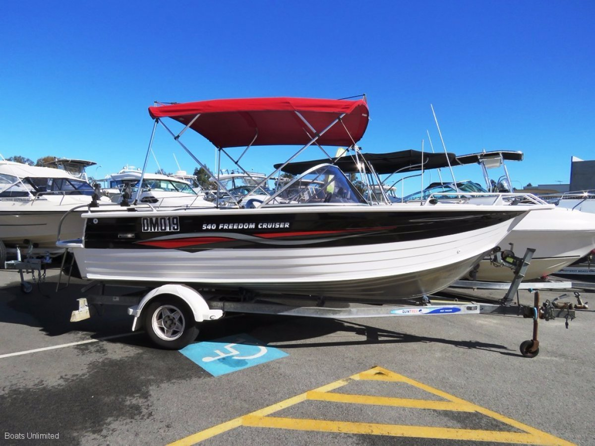 Quintrex 540 Freedom Cruiser CRUISE THE WATER PLAY WITH THE FAMILY!:Quality boats wanted!  Let me sell yours here today! Cash, Consign or Trade 9303 4443.