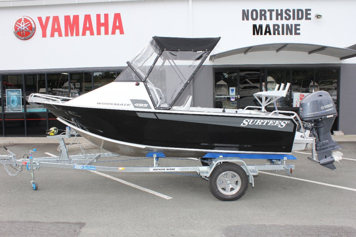 Surtees 495 Workmate + Yamaha F70LA 70hp Four Stroke Outboard