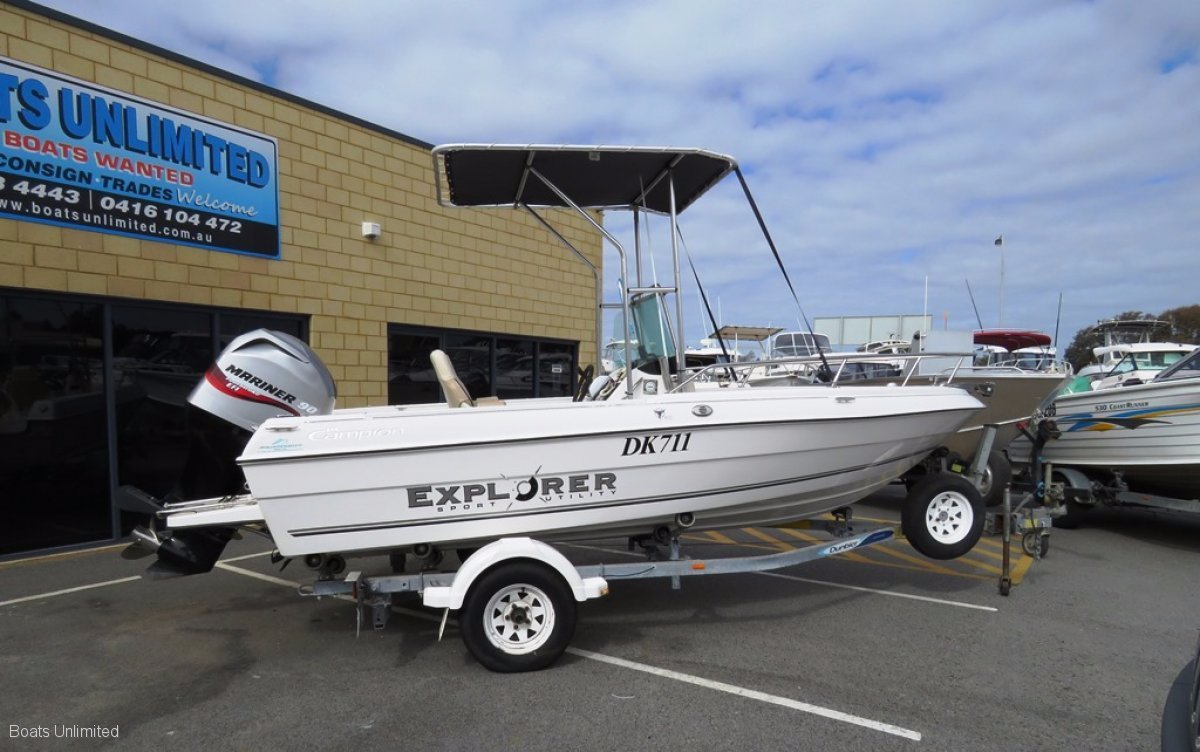 Campion CENTRE CONSOLE GREAT FOR FAMILY AND FISHING:BOATS UNLIMITED Perth Largest Range of Quality Used Boats, Friendly Service, Great Advice!