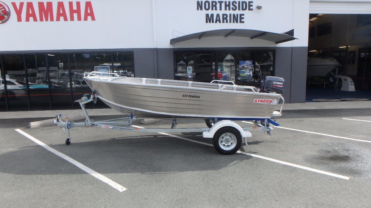 Stacer 429 Rampage + Yamaha 30hp CV Two Stroke Outboard Motor
