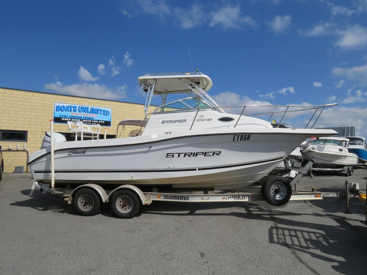 Seaswirl Striper 2301 Wa FAMILY FISHING DIVING HUGE OPEN DECK, GREAT RIDING:Quality boats wanted!  Let me sell yours here today! Cash, Consign or Trade 9303 4443.