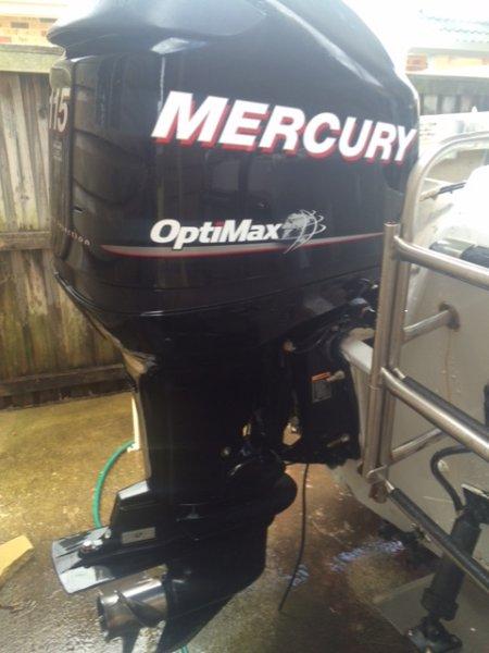 2010 Mercury Optimax DFI 115hp, 5 meter Monark