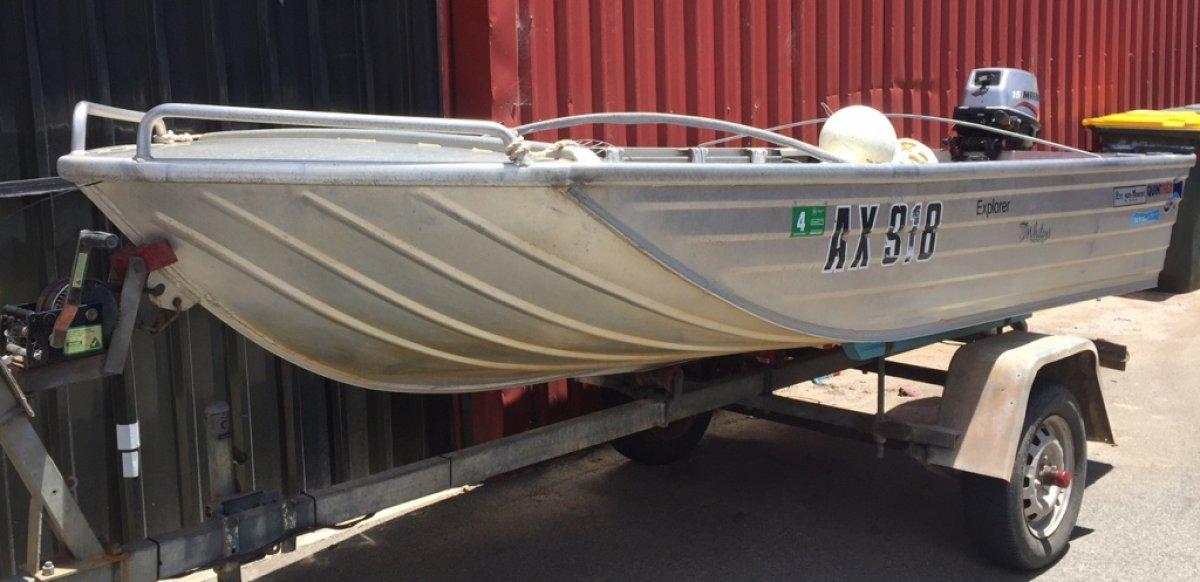 Quintrex Explorer 4m Aluminium Dinghy