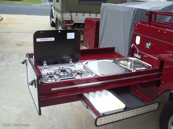 TOW LITE 4 X 4 CAMPER TRAILER by GOLD STAR BOATS