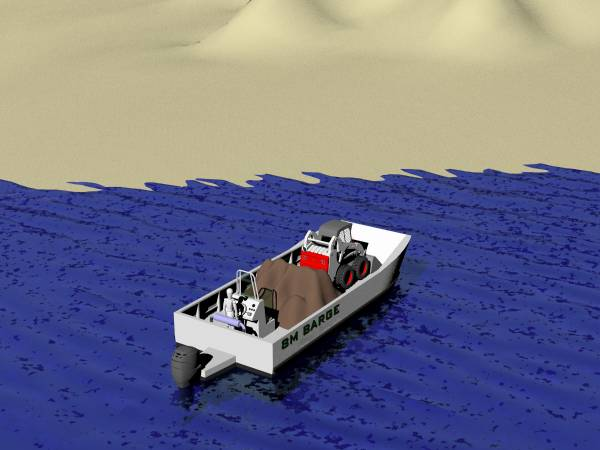 New Barge 8m Aluminium Landing