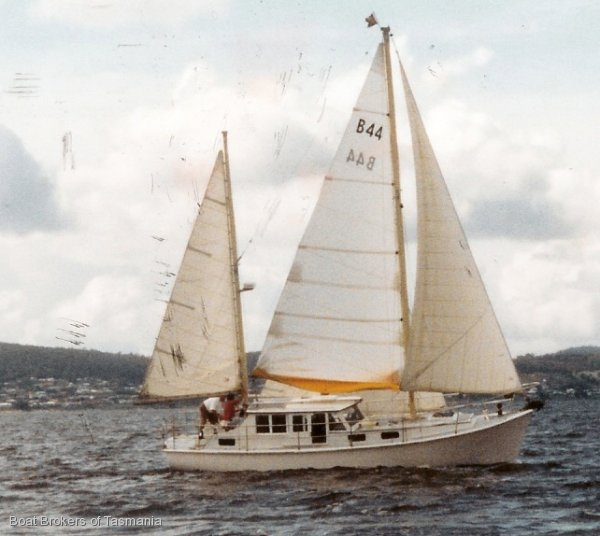 Timber 36 Foot Motorsailer With Enclosed Wheelhouse