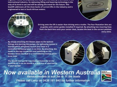 High and Dry boat lifters (South Africa) appoint Searano Marine as Western Australian dealers.